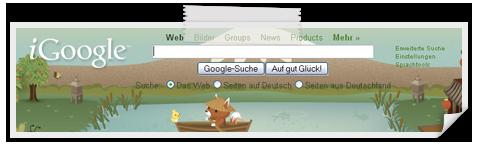 Googles personalisierte Startseite