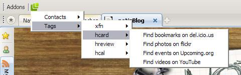 Microformats Plugin für Maxthon