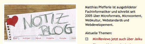 notizBlog auf Web Standards in Germany