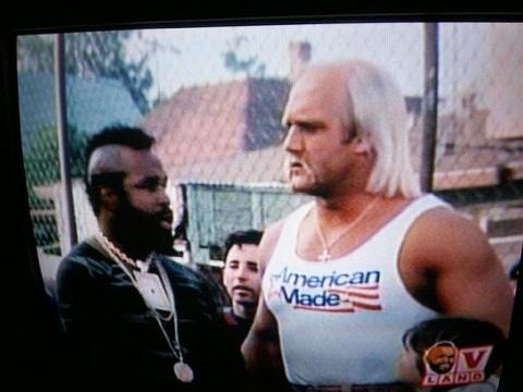 Hulk Hogan and Mr. T