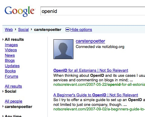 Googles Social Search - Profile