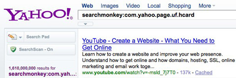 SearchMonkey: Structured Search