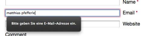 Email Validation im Firefox