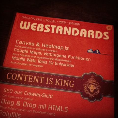 Webstandards Magazin Nr. 11
