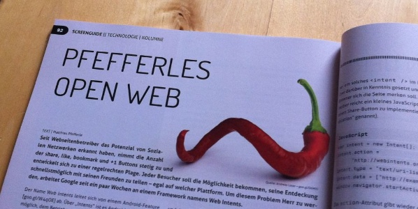 Pfefferles OpenWeb: Web Intents