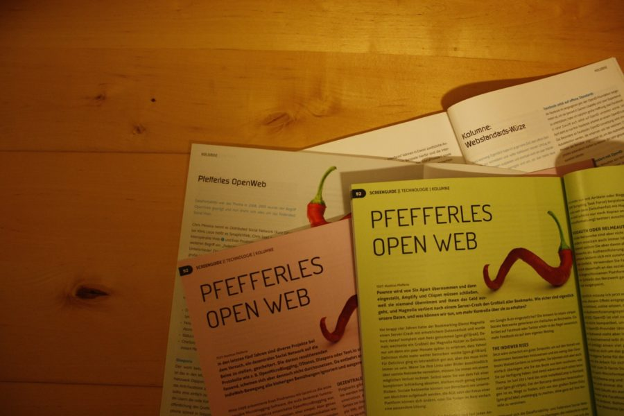 """Bilder von """"Pfefferles OpenWeb"""" Artikeln"""