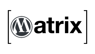 Kombination von WordPress und Matrix Logo